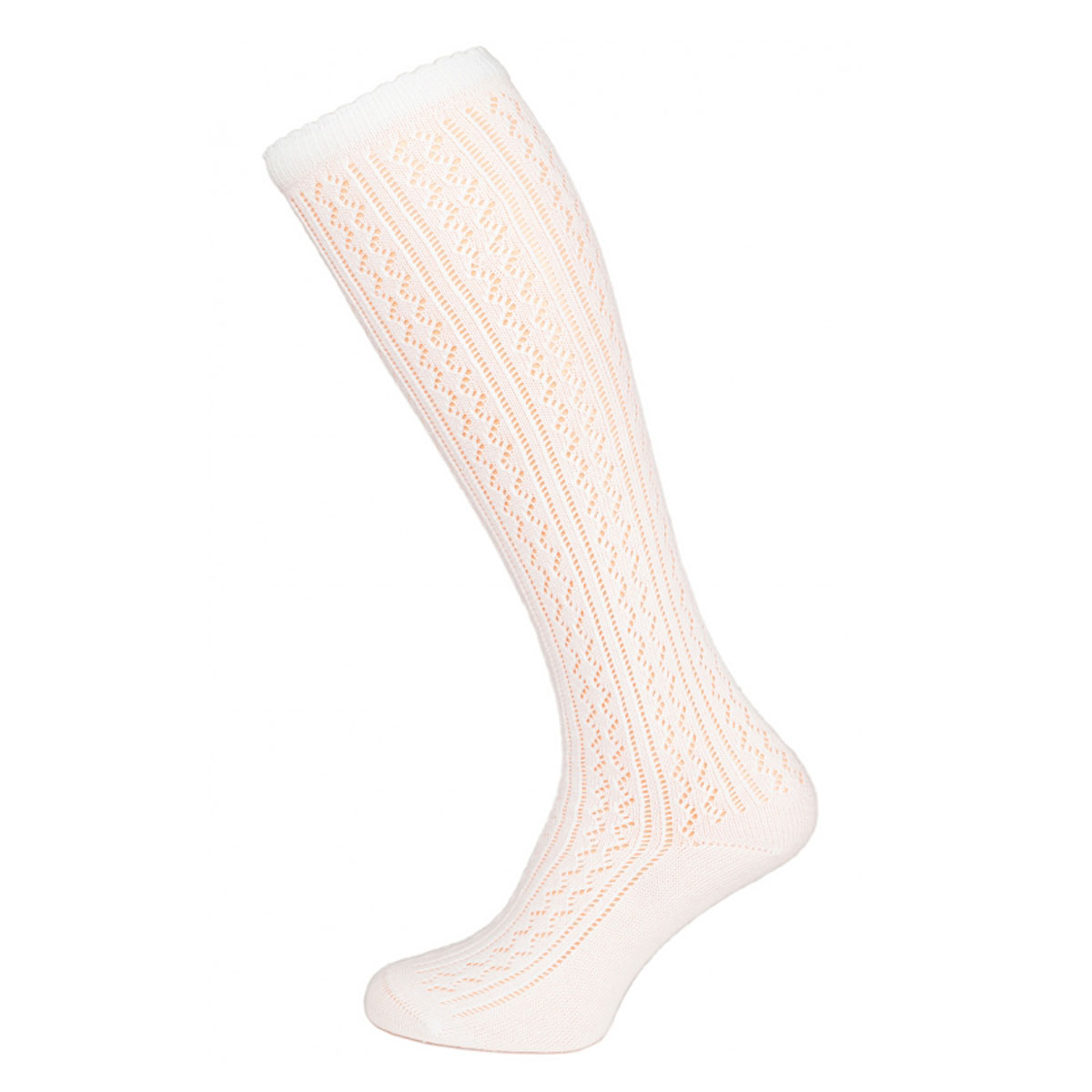 OFF WHITE FEMALE SOCKS WITH WHITE LACE