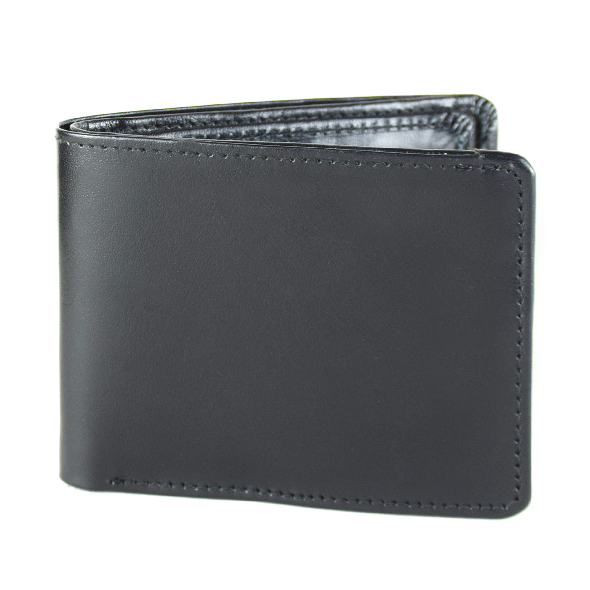 BLACK WALLET WITH SEPARATE CARD HOLDER