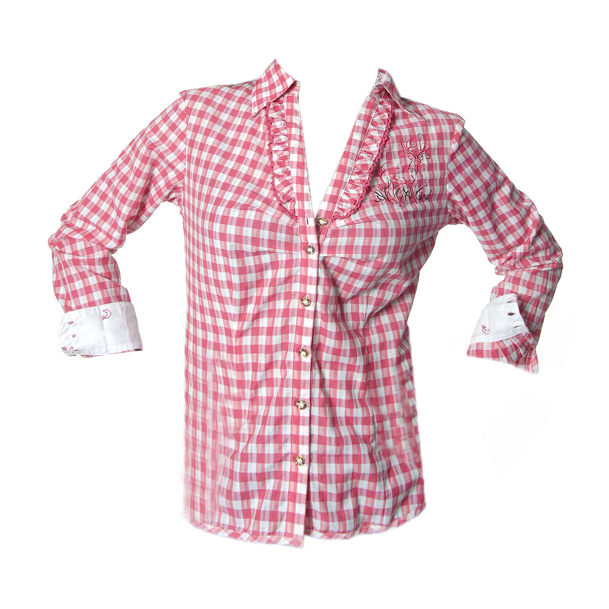 RED / WHITE DESIGNER CHECK SHIRT